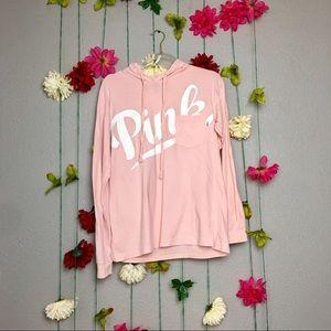 Pink Victoria's Secret babydoll Pink hoodie  XS